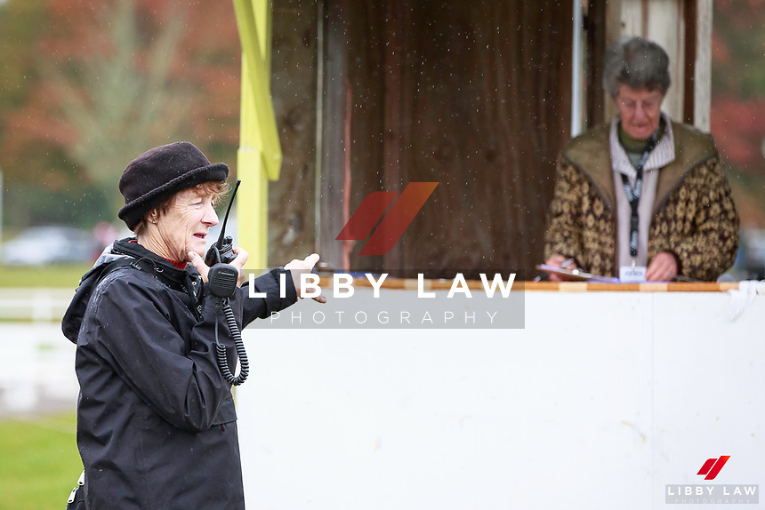 """Look - it's Virginia Caro"": Ready to commentate for the 1st Horse Inspection at the 2017 NZL-NRM National Three Day Event Championships. National Equestrian Center, Taupo. Thursday 11 May. Copyright Photo: Libby Law Photography"