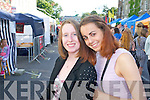 Mary Ellen Costello (Killorglin) and Alison O'Sullivan (Keel) pictured queuing for the Union J concert at Denny Street on Friday.