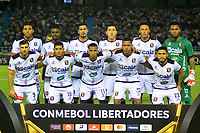 BARRANQUILLA - COLOMBIA ,08-05-2019: Formación del Melgar del Perú ante el Atlético Junior de Colombia durante  partido por la  Copa CONMEBOL Libertadores 2019 jugado en el estadio Metropolitano Roberto Meléndez de la ciudad de Barranquilla . / Team of Melgar of Peru agaisnt of Atletico Junior of Colombia during match for  the Copa CONMEBOL Libertadores 2019 played at the Metropolitan Stadium Roberto Meléndez from the city of Barranquilla . Photo: VizzorImage / Alfonso Cervantes / Contribuidor.