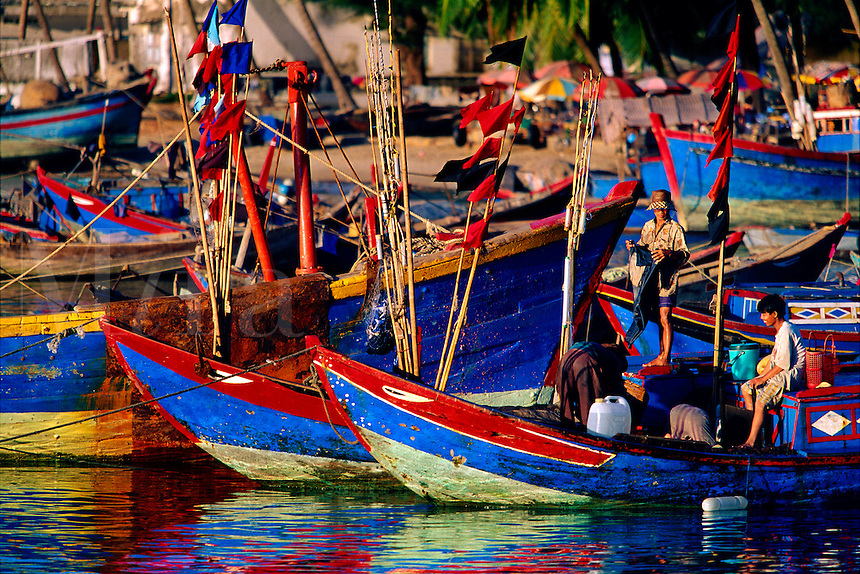 Fishing boats Vung Tau Harbor Vietnam.