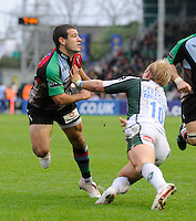 Twickenham, GREAT BRITAIN, Left, Danny CARE, Centre, Shane GEREAGHTY, during the EDF Energy Cup rugby match,  Harlequins vs London Irish, at Twickenham Stoop, Surrey on Sat 25.10.2008 [Photo, Peter Spurrier/Intersport-images]