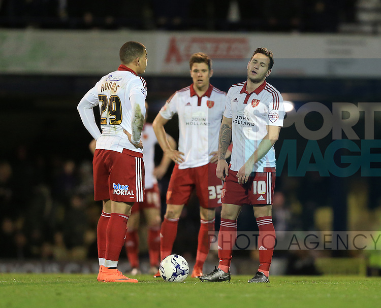 Sheffield United's Billy Sharp looks on dejected after Southend's second goal during the League One match at Roots Hall Stadium.  Photo credit should read: David Klein/Sportimage