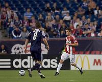 Chivas USA midfielder Ben Zemanski (21) passes the ball. Chivas USA defeated the New England Revolution, 4-0, at Gillette Stadium on May 5, 2010.