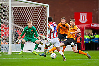 7th March 2020; Bet365 Stadium, Stoke, Staffordshire, England; English Championship Football, Stoke City versus Hull City; Tashan Oakley-Boothe of Stoke City crosses the ball for Nick Powell to score