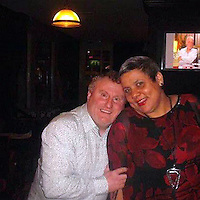 COPY BY TOM BEDFORD MEDIA<br /> Pictured: Lesley Woolcock (R) with husband Robert (L)Re: A grandmother's died just days before she was to meet her hero - soccer legend Ian Wright.<br /> Arsenal fan Lesley Woolcock, 47, said her dying wish was to meet the former England striker and TV soccer pundit.<br /> Her family launched a Twitter campaign and Ian responded by giving Lesley a surprise phone call.<br /> Ian, 52, promised to visit her in Barry, South Wales, and the meeting was set for later this month. <br /> But mum-of-two Lesley died of ovarian cancer last week with her family at her bedside.