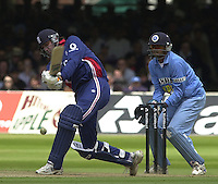 .29/06/2002.Sport - Cricket - .NatWest triangler Series England - Sri Lanka - India.England vs india 50 overs.  Lord's ground.England batting -  Ronnie Irani..