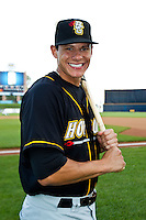 Derek Dietrich (32) of the Bowling Green Hot Rods poses for a portrait prior to the Midwest League All-Star Game at Modern Woodmen Park on June 21, 2011 in Davenport, Iowa. (David Welker / Four Seam Images)