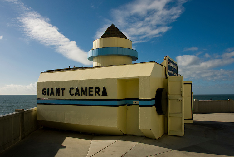 California: San Francisco. Giant Camera Obscura at Cliff House Restaurant at Ocean Beach. Photo copyright Lee Foster. Photo #: 25-casanf75731