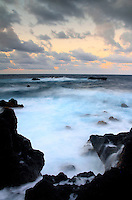 Twilight from Wai'anapanapa State Park, Hana, Maui, Hawaii.
