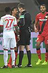 12.01.2018, BayArena, Leverkusen , GER, 1.FBL., Bayer 04 Leverkusen vs. FC Bayern M&uuml;nchen<br /> im Bild / picture shows: <br /> Diskussion mit dem Schiedsrichter, Referee, Daniel Siebert (SR) Karim Bellarabi (Leverkusen #38), <br /> <br /> <br /> Foto &copy; nordphoto / Meuter