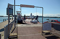 Vehicles board Strangford Lough ferry at Portaferry for Strangford town. 201208180541..Copyright Image from Victor Patterson, 54 Dorchester Park, Belfast, UK, BT9 6RJ..Tel: +44 28 9066 1296.Mob: +44 7802 353836.Voicemail +44 20 8816 7153.Skype: victorpattersonbelfast.Email: victorpatterson@me.com.Email: victorpatterson@ireland.com (back-up)..IMPORTANT: If you wish to use this image or any other of my images please go to www.victorpatterson.com and click on the Terms & Conditions. Then contact me by email or phone with the reference number(s) of the image(s) concerned.