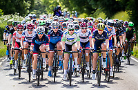 Picture by Alex Whitehead/SWpix.com - 07/06/2017 - Cycling - OVO Energy Women's Tour - Stage 1: Daventry to Kettering - The peloton in action. WNT's Lydia Boylan.
