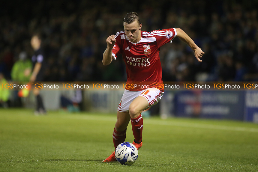 Brad Smith of Swindon Town, currently on loan from Liverpool - Gillingham vs Swindon Town - Sky Bet League One Football at Priestfield Stadium, Gillingham, Kent - 19/08/14 - MANDATORY CREDIT: Paul Dennis/TGSPHOTO - Self billing applies where appropriate - contact@tgsphoto.co.uk - NO UNPAID USE
