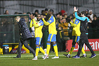 Haringey players applaud the fans during Haringey Borough vs AFC Wimbledon, Emirates FA Cup Football at Coles Park Stadium on 9th November 2018