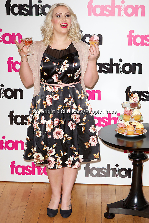London - Claire Richards is announced as brand ambassador for Fashion World at BB Bakery,London -: 29th January 2013..Photo by Cliff Bass