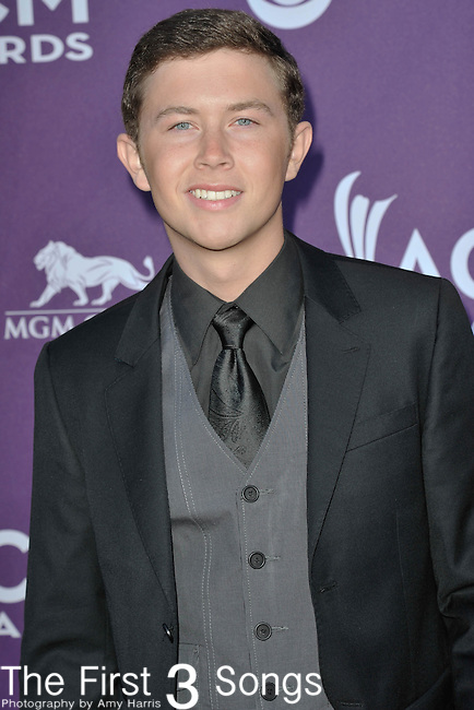 Scotty McCreery attends the 47th Annual Academy of Country Music Awards in Las Vegas, Nevada on April 1, 2012.