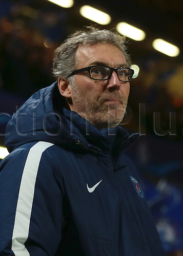 09.03.2016. Stamford Bridge, London, England. Champions League. Chelsea versus Paris Saint Germain. Paris St. Germain Manager Laurent Blanc