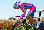 SITTARD, NETHERLANDS - AUGUST 16: Luca Dodi of Italy riding for Lampre-Merida competes during stage 5 of the Eneco Tour 2013, a 13km individual time trial from Sittard to Geleen, on August 16, 2013 in Sittard, Netherlands. (Photo by Dirk Markgraf/www.265-images.com)