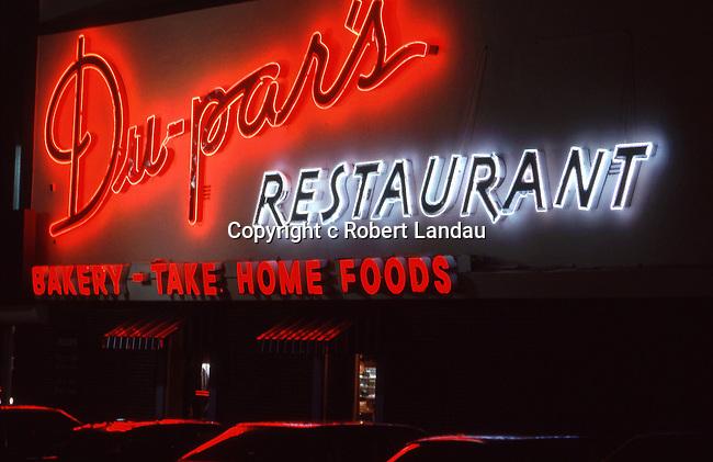Dupars Restaurant on Ventura Blvd in the San Fernando Valley circa 1990s