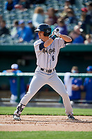 Kane County Cougars right fielder Billy Endris (8) at bat during a game against the South Bend Cubs on May 3, 2017 at Four Winds Field in South Bend, Indiana.  South Bend defeated Kane County 6-2.  (Mike Janes/Four Seam Images)