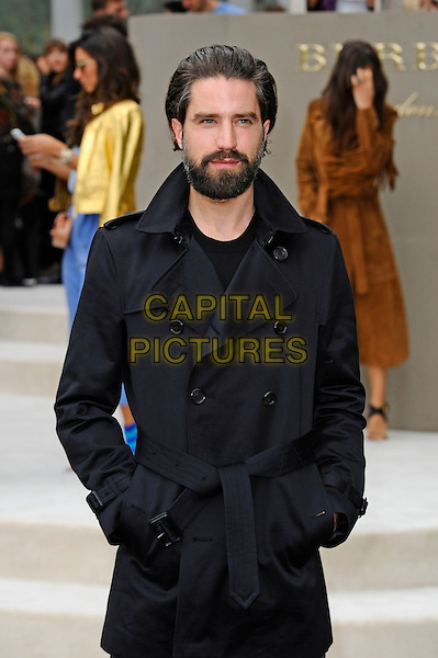 LONDON, ENGLAND - SEPTEMBER 21:  Jack Guinness attending the Burberry Prorsum Spring/Summer 2016 show during London Fashion Week at Kensington Gardens, on September 21, 2015 in London, England.<br /> CAP/MAR<br /> &copy; Martin Harris/Capital Pictures