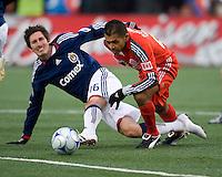 22 April 2009: Chivas USA midfielder Sacha Kljestan #16 and Toronto FC midfielder Amado Guevara #20 in action at BMO Field in a MLS game between Chivas USA and Toronto FC.Toronto FC won 1-0. .