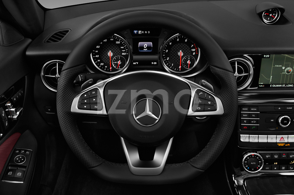 Car pictures of steering wheel view of a 2017 Mercedes Benz SLC SLC300 2 Door Convertible