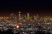 Los Angeles skyline at night, California