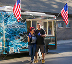 Sarina and Philipn Velasquez with their Black Ice truck during Sizzling Saturdays Food Truck event in Sparks on Saturday, July 20, 2019.