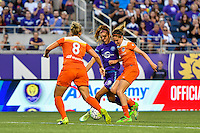 Orlando, FL - Thursday June 23, 2016: Alex Morgan, Morgan Brian during a regular season National Women's Soccer League (NWSL) match between the Orlando Pride and the Houston Dash at Camping World Stadium.