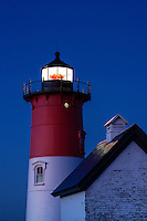 Nauset Lighthouse at night, Eastham, Cape Cod, Massachusetts, USA