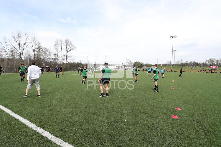 Browns Summit, NC - April 6, 2018: Girl's Development Academy Spring Showcase at Bryan Park.