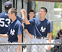 Gosuke Kato (Yankees),<br /> JUNE 19, 2013 - MLB :<br /> Gosuke Kato of the New York Yankees during practice before the baseball game at the Philadelphia Phillies' minor league complex in Clearwater, Florida, United States. (Photo by AFLO)