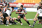 Niva Ta'auso breaks around a ruck during the Air New Zealand Cup rugby game between Counties Manukau & Hawkes Bay played at Mt Smart Stadium, 30th of September 2006. Hawkes Bay won 30 - 29.