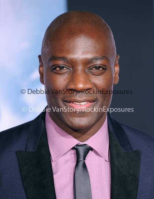 Hollywood, CA - NOVEMBER 04: Adewale Akinnuoye-Agbaje arrives to Marvel's  THOR: THE DARK WORLD Premiere held at El Capitan Theatre in Hollywood, California on November 04,2012                                                                               © 2013 Hollywood Press Agency