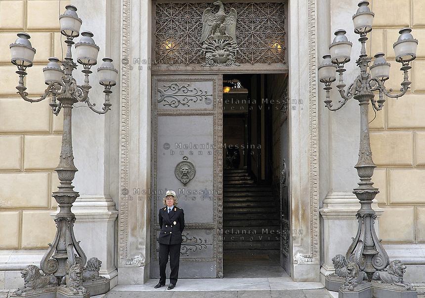Palermo; palazzo delle aquile.<br /> Palermo: Entrance to Palazzo delle Aquile.