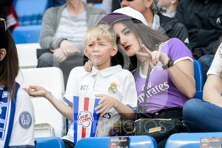 Real Madrid's supporters during La Liga match between Real Madrid and Atletico de Madrid at Santiago Bernabeu Stadium in Madrid, April 08, 2017. Spain.<br /> (ALTERPHOTOS/BorjaB.Hojas)