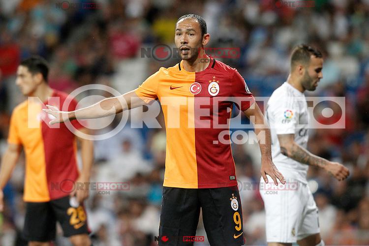Galatasaray's Umut Bulut during XXXVI Santiago Bernabeu Trophy. August 18,2015. (ALTERPHOTOS/Acero)