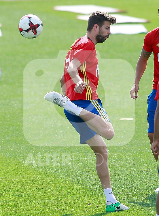 Spain's Gerard Pique during training session. June 9,2017.(ALTERPHOTOS/Acero)