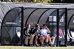 06 November 2016: Wake Forest head coach Bobby Muuss (left). The Wake Forest University Demon Deacons hosted the University of Notre Dame Fighting Irish at Spry Stadium in Winston-Salem, North Carolina in a 2016 NCAA Division I Men's Soccer match and an Atlantic Coast Conference Men's Soccer Tournament quarterfinal. Wake Forest won the game 1-0.
