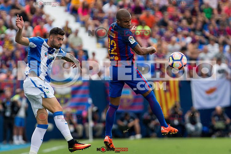 FC Barcelona's Aleix Vidal during the match of La Liga between Club Deportivo Leganes and Futbol Club Barcelona at Butarque Estadium in Leganes. September 17, 2016. (ALTERPHOTOS/Rodrigo Jimenez) /NORTEPHOTO