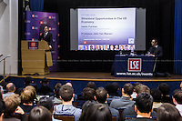 London, 05/11/2014. Today, LSE (London School of Economics) presented a public lecture called &quot;Structural Opportunities in the US Economy&quot; hosted by Jason Furman (American economist; Chairman of the Council of Economic Advisers, CEA; former Principal Deputy Director of the National Economic Council Previously; former advisor to candidate Barack Obama ...<br />