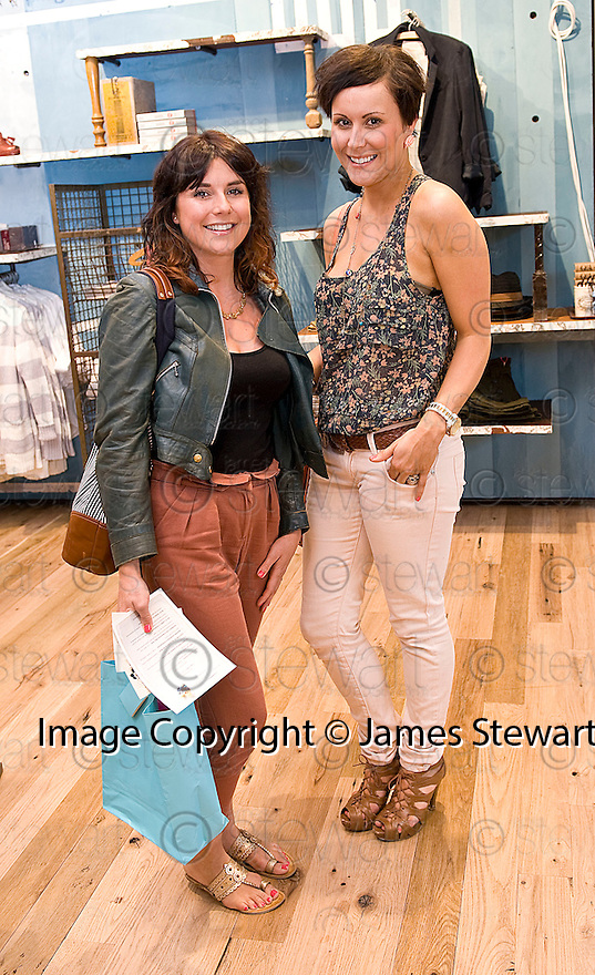 INVITED GUESTS, HANNAH BLOOMFIELD AND GRAINNE BYRNE AT THE LAUNCH EVENING  OF THE NEW ANTHROPOLOGIE STORE IN GEORGE STREET EDINBURGH<br /> <br /> For further info contact Kelly Cooper Barr, 07967 184911