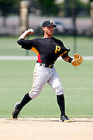 July 13, 2009:  Shortstop Benjamin Gonzalez of the GCL Pirates during a game at Tiger Town in Lakeland, FL.  The GCL Pirates are the Gulf Coast Rookie League affiliate of the Pittsburgh Pirates.  Photo By Mike Janes/Four Seam Images