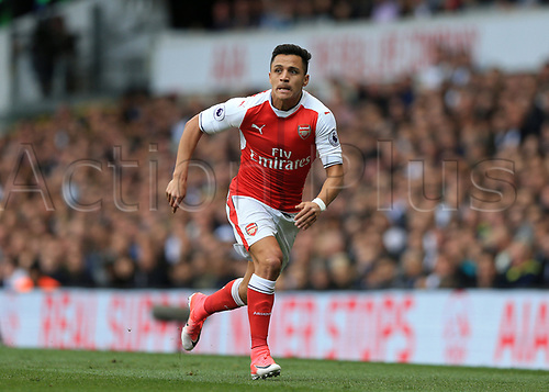 April 30th 2017, White Hart Lane, Tottenham, London England; EPL Premier League football Tottenham Hotspur versus Arsenal; Alexis Sanchez of Arsenal running