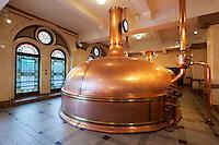 Netherlands, North Holland, Amsterdam: Heineken Historic Brewery (Heineken Brouwerij). Wort kettles for cooking the wort | Niederlande, Nordholland, Amsterdam: historische Heineken  Brauerei. Braukessel