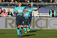 Duvan Zapata if Atalanta celebrates after scoring goal of 1-1 <br /> Bergamo 26-12-2018  Stadio Atleti Azzurri d'Italia <br /> Football Campionato Serie A 2018/2019 <br /> Atalanta - Juventus<br /> Foto Cesare Purini / Insidefoto
