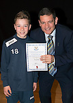 St Johnstone FC Academy Awards Night...06.04.15  Perth Concert Hall<br /> Chairman Steve Brown presents a certificate to Euan Hay<br /> Picture by Graeme Hart.<br /> Copyright Perthshire Picture Agency<br /> Tel: 01738 623350  Mobile: 07990 594431