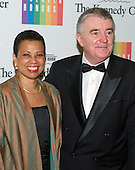 Harolyn Blackwell and Peter Greer arrive for the formal Artist's Dinner honoring the recipients of the 2014 Kennedy Center Honors hosted by United States Secretary of State John F. Kerry at the U.S. Department of State in Washington, D.C. on Saturday, December 6, 2014. The 2014 honorees are: singer Al Green, actor and filmmaker Tom Hanks, ballerina Patricia McBride, singer-songwriter Sting, and comedienne Lily Tomlin.<br /> Credit: Ron Sachs / Pool via CNP