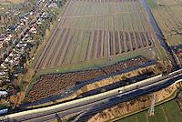 Entwaesserung Allermoehe: DEUTSCHLAND, HAMBURG 28.12.2014: Entwaesserung Allermoehe, Neubau der Graben Entwaesserung oestlich des Mittleren Landweg